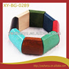 Fashionable unfinished colorful elastic wooden bracelet bangle
