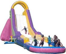 Amusement park slide for sale,inflatable water slide clearance F4133