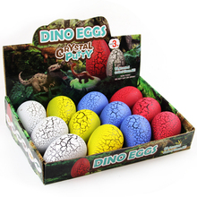 Factory Wholesale Cheap Kids Fun Play Intelligent Dinosaur Egg Putty with high quality