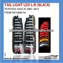 toyota hiace body parts tail light LED(black) NEW MODEL #000734 tail light led for hiace 2005-2013,hiace200 commuter parts