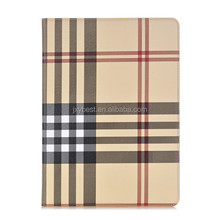 Factory custom Grid leather flip stand smart cover case with card holder and photo frame for ipad 9.7 2017