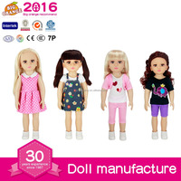 "18"" American Girl Doll Model Factory Pretty Girl with Big Eyes and Glod Hair For wholesale with EN71,6P,AZO"