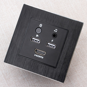 Modern Hotel HDMI Multi Media Hub Panel Bluetooth Audio USB Wall Socket