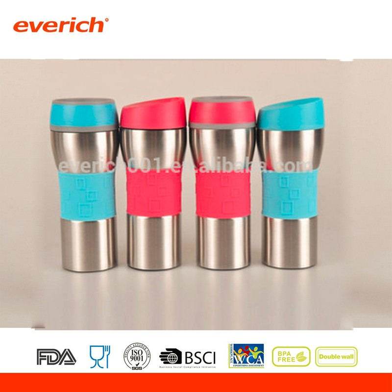 Eco-friendly Best Selling Stainless Steel Thermo Travel Coffee Mug With Button Lid