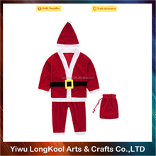 Wholesale kids Christmas santa claus costume for sale