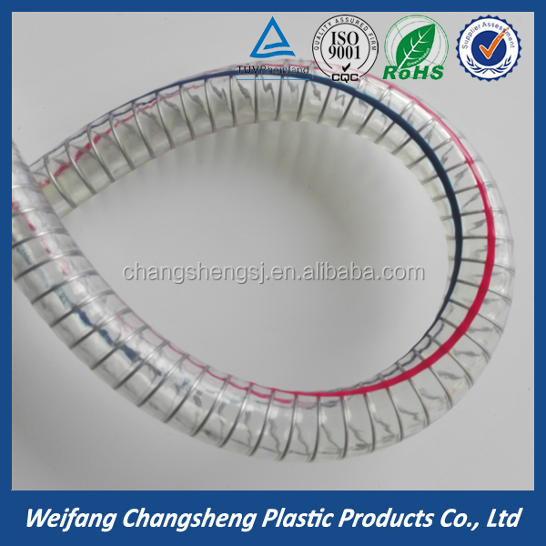 Clear Steel Wire Reinforced Pipe PVC Spring Hose