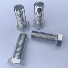 Gecheng Grade 4.8 to 8.8 carbon steel hot dip galvanized hex bolts /50mm diameter steel bolt