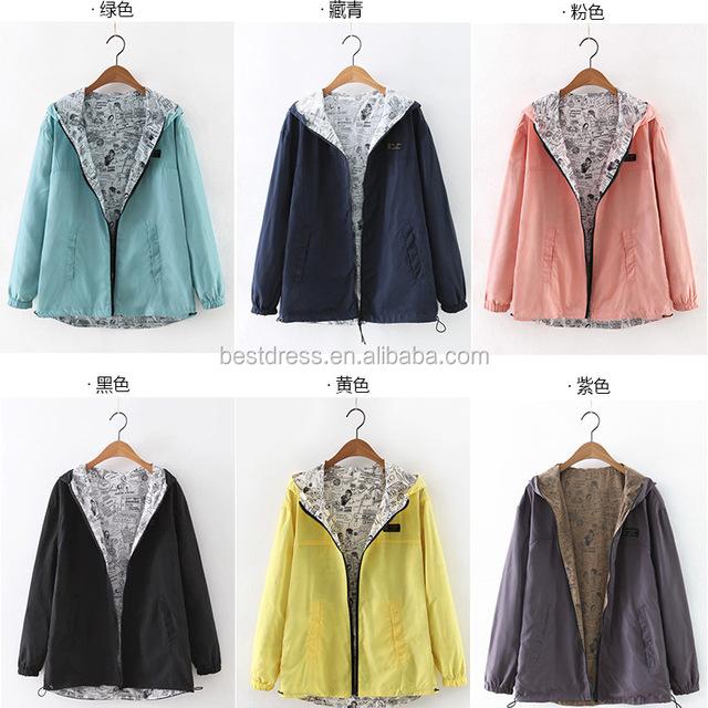 parkas women bomber jacket reversible pocket two side wear
