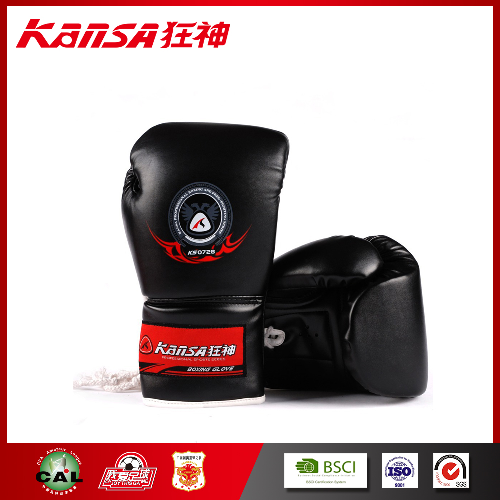 Kansa-0728 Fashion Design Best PU Leather Perfect New Boxing Gloves