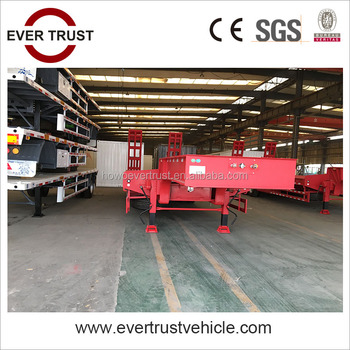 low price 60 ton 3 axle hydraulic low bed trailer for sale