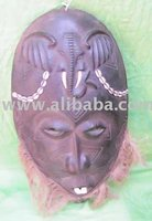 Antique,Tribal,African Wood Mask Carving Craft