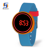 Novelty Colorful Silicone LED Light Up Watches Women Vogue Lady Silicone Watch
