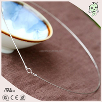 Slim Colar Design Round Circle Simple Style Popular 925 Sterling silver Necklace