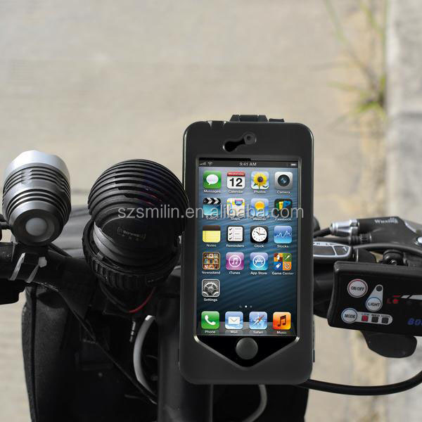 2014 best quality Holder Case for iPhone with bycical bike handlebar mount also for Samsung S3S/4
