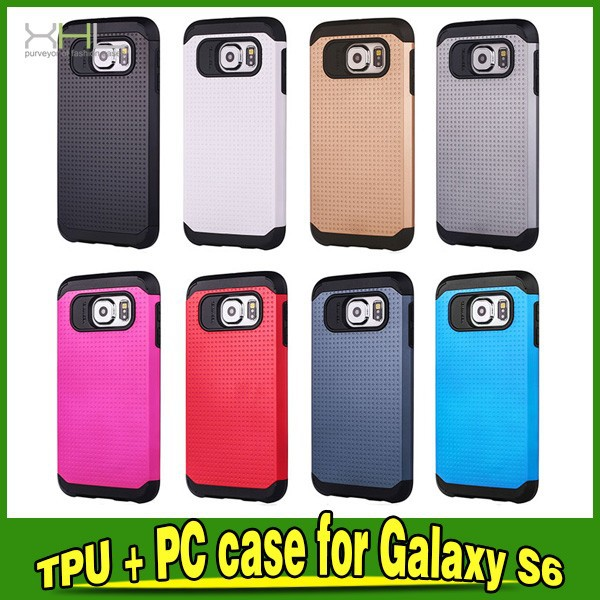 2 in 1 Heavy Duty Slim Armor Cover For Samsung Galaxy S6 Case