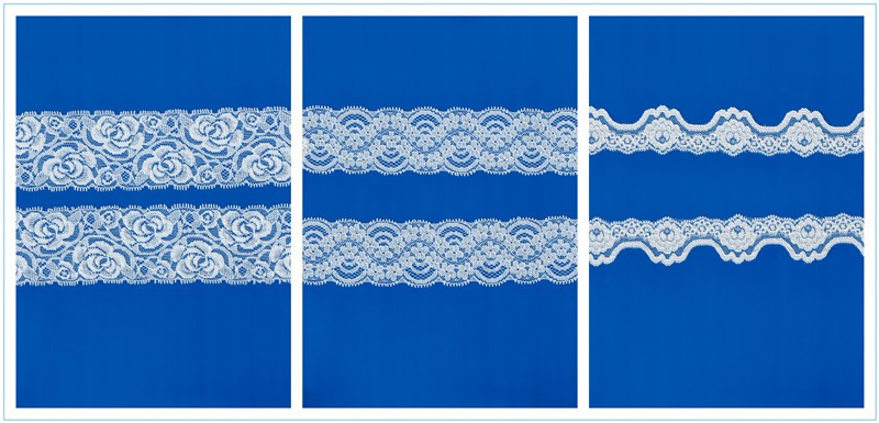 2016 Hongtai high quality knitted elastic band with lace trim