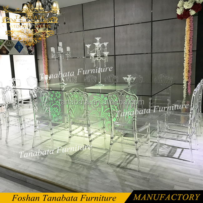 Iron painting base led light up event wedding chairs and tables