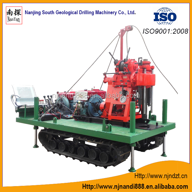 XY-1A--4-L-01-B crawler drilling rig(180m)high speed rig,prospecting drilling rig,Well drilling rig