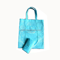 wholesale customized OEM foldable tote shopping cheap printed reusable pp non woven collapsible promotional bag