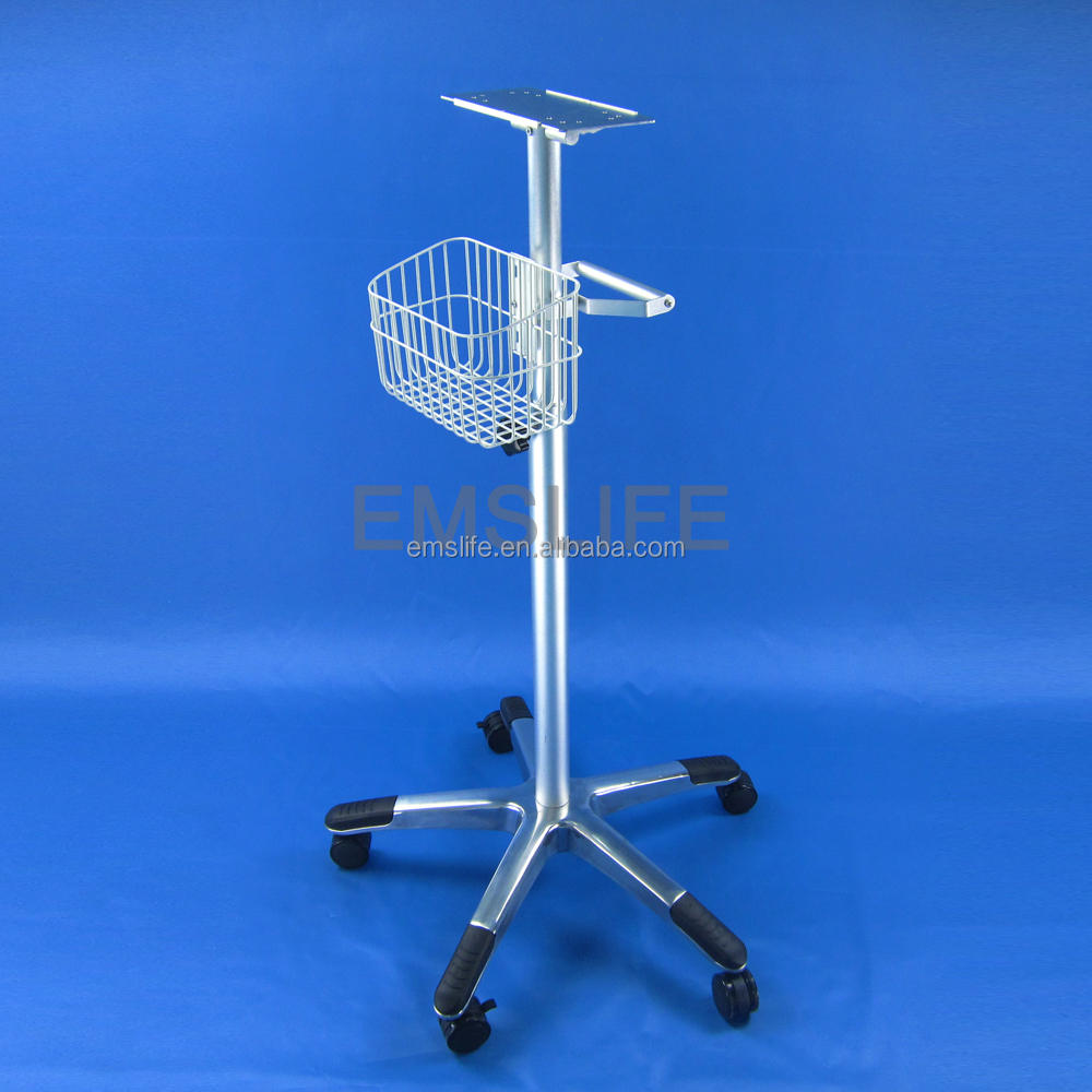 deluxe medical cart plug platform roll cart monitor medical devices trolleys