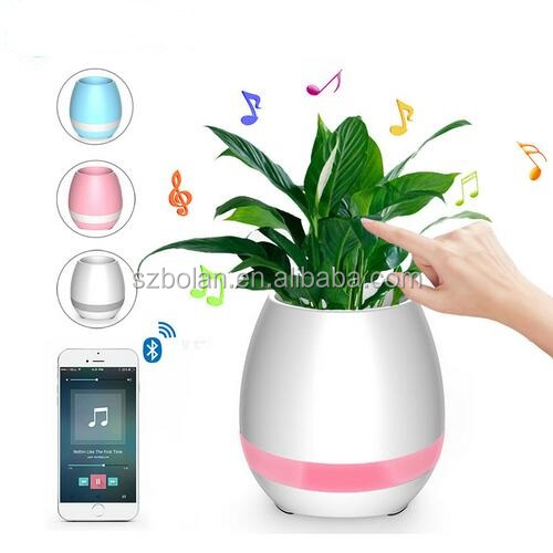 [BOLAN, Better Quality & Reasonable price] Smart Bluetooth Speaker Flower Pot with Real Plant Touch Sensor