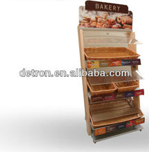 Brand New Free Standing Wood Bakery Display Shelves Stand