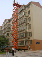 mobile manual or motorized hydraulic scissor lift platform