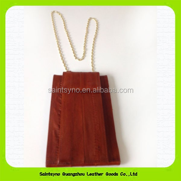 Brown distinctive design atm card pouch with lanyard 15195