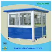 customised low price coloured fiberglass security guard/police/toll/kiosk house/booth sale