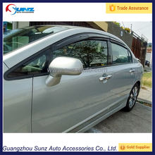 FIT FOR HONDA CIVIC 2011 WEATHER SHIELD LIGHT SMOKE WINDOW DOOR VISOR 2011 For Civic RAIN GUARD DEFLECTORS