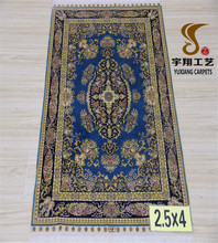 100% handmade silk persian rug nain for sale