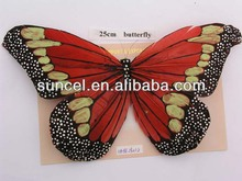"24 Pc 7.8"" Fake Decorative Artificial Feather Butterflies Craft Wedding Butterfly"