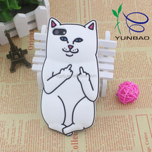 fantastic white fox design factory phone case for silicone mobile case