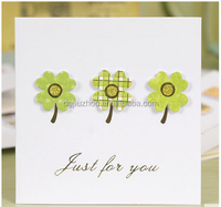 Three simple 3D swing flower pattern of thanksgiving card/birthday card