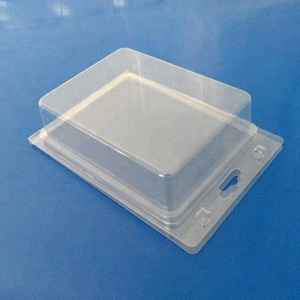 customized vacuum forming clear clamshell handicraft blister packaging tray