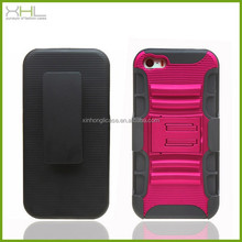 Hot selling 3 in 1 sillicone pc phone cases for iphone5 5s with holder,latest mobile phone skin cover