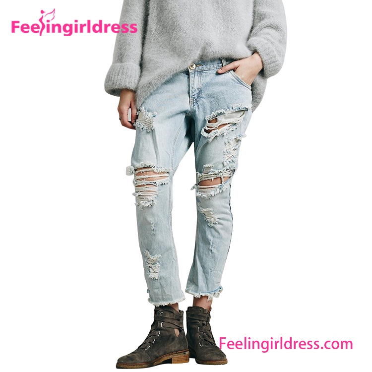 No MOQ Cheap Latest Design Jeans Pants For Girl