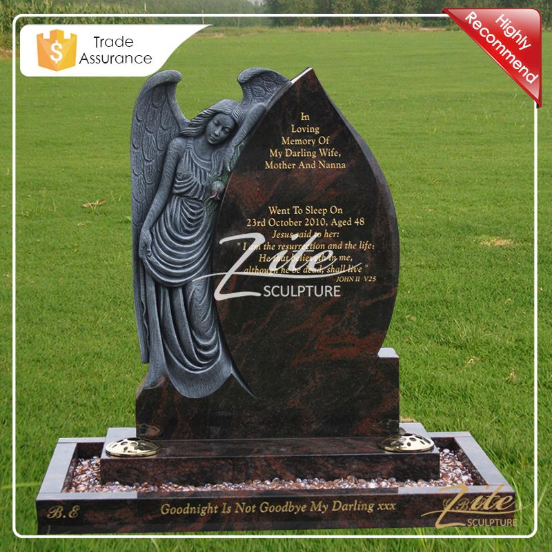 New Designs High Quality cheap black granite headstones