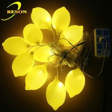 artificial fruit shape lemon string lights for indoor and outdoor decoration