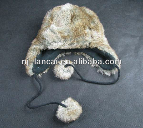 new arrival animal natural faux fur trapper hat