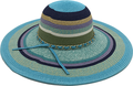 Wholesale Summer Beach Hat Paper Scarve Straw Hat For Ladies