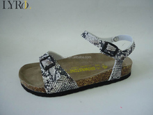 snake pattern ladies cork BIO fashion sandals