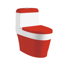 Italian Type WC One Piece UPC Red Color Toilets Water Closet