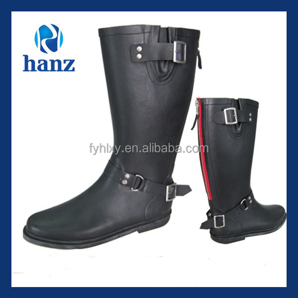 high quality women fashion waterproof horse riding boots with zipper