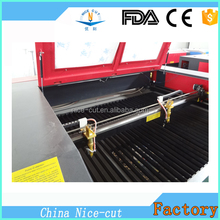 NC-C1610 CNC double laser heads laser engraving and cutting machine co2 acrylic laser cutter for sale