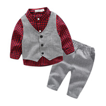 2017 Children Boy Clothing Sets Fashion Child Suit For Wholesale Baby young child