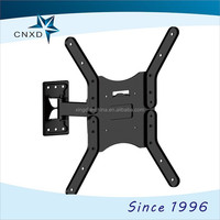 "Full motion folding tv brackets for screen size 25""-52"" / wall mounted folding table modern corner glass display tv mount"