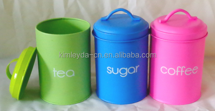 Tea, Coffee and Sugar Canisters - Set of 3 - Cream