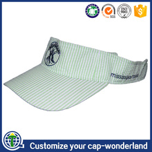 Custom printed funny hiphop visors hat, seersucker golf plastic inside peaked sports football short sun cap visor