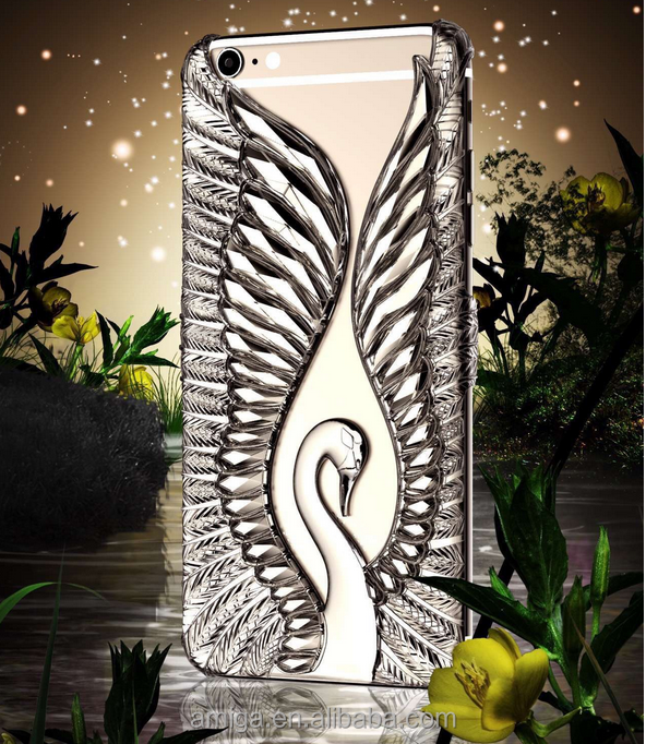Newest 3D Angel Swan Wing mobile phone accessories for iphone 7 case